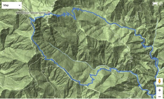 mt wilson map